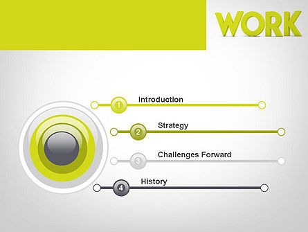 Word WORK PowerPoint Template, Slide 3, 11898, Business Concepts — PoweredTemplate.com