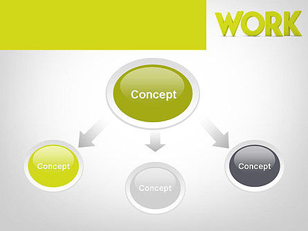 Word WORK PowerPoint Template, Slide 4, 11898, Business Concepts — PoweredTemplate.com