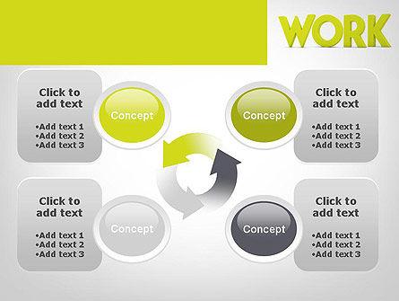 Word WORK PowerPoint Template Slide 9