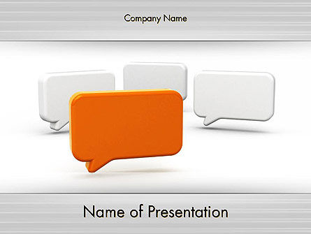 Business Concepts: Templat PowerPoint Pisahkan Opini #11904