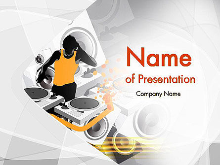 Dance Music PowerPoint Template, 11906, Art & Entertainment — PoweredTemplate.com