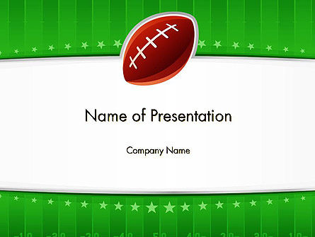 Super Bowl Theme PowerPoint Template, 11908, Sports — PoweredTemplate.com