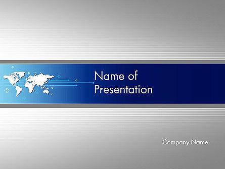 Presentation with World Map PowerPoint Template
