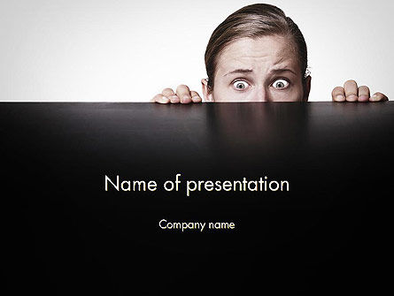 People: Hiding Woman PowerPoint Template #11911