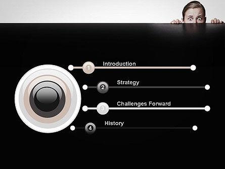 Hiding Woman PowerPoint Template, Slide 3, 11911, People — PoweredTemplate.com