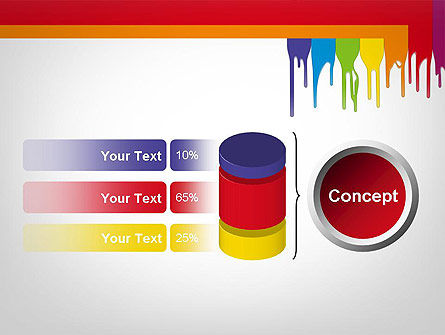 Paint Spills PowerPoint Template Slide 11