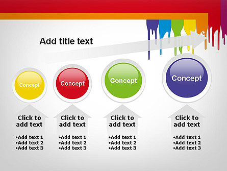 Paint Spills PowerPoint Template Slide 13