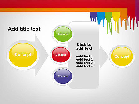 Paint Spills PowerPoint Template Slide 17