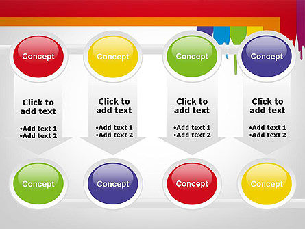 Paint Spills PowerPoint Template Slide 18