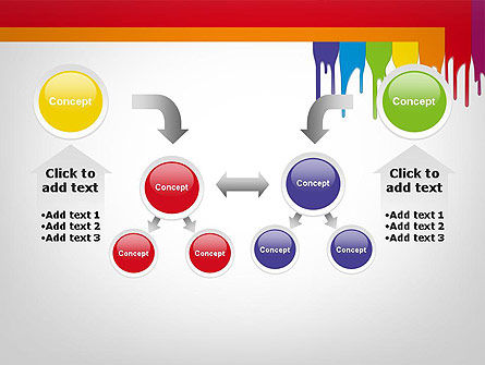 Paint Spills PowerPoint Template Slide 19
