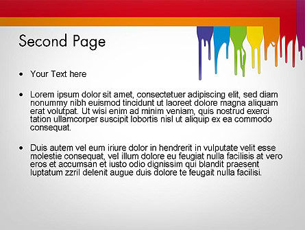 Paint Spills PowerPoint Template Slide 2