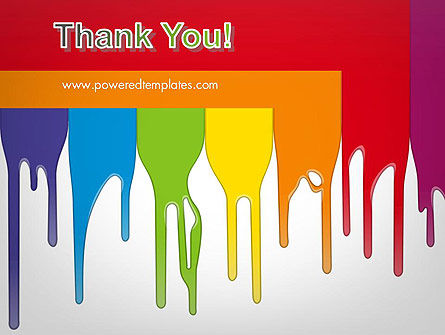 Paint Spills PowerPoint Template Slide 20