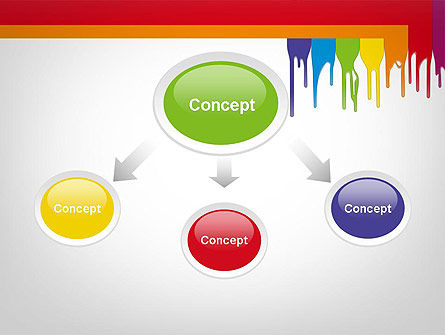 Paint Spills PowerPoint Template Slide 4
