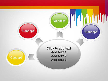 Paint Spills PowerPoint Template Slide 7