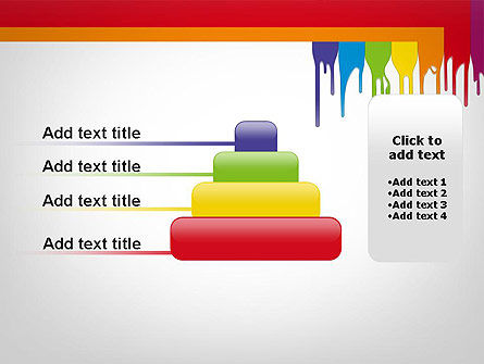 Paint Spills PowerPoint Template Slide 8