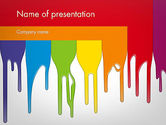 Art & Entertainment: Paint Spills PowerPoint Template #11912