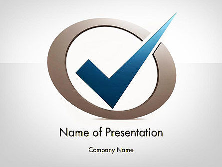 Blue Tick PowerPoint Template