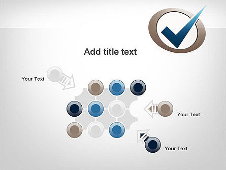 Blue Tick PowerPoint Template Slide 10