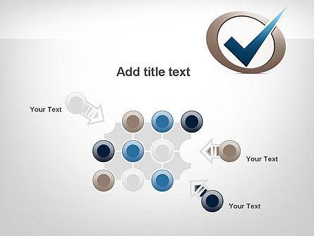 Blue Tick PowerPoint Template Slide 10