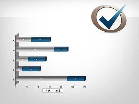 Blue Tick PowerPoint Template Slide 11
