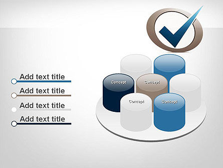 Blue Tick PowerPoint Template Slide 12