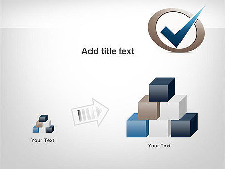 Blue Tick PowerPoint Template Slide 13