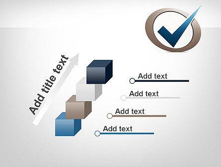 Blue Tick PowerPoint Template Slide 14
