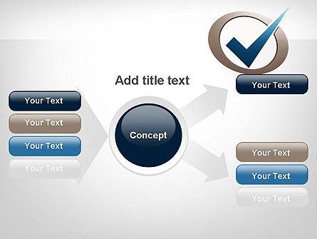 Blue Tick PowerPoint Template Slide 15
