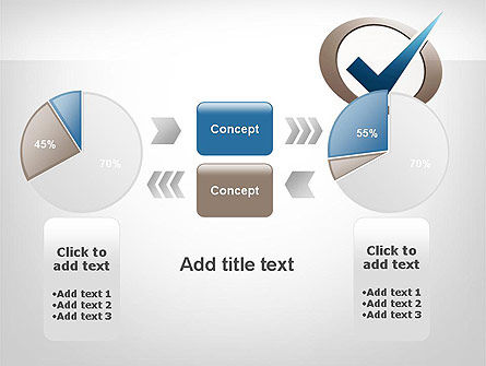 Blue Tick PowerPoint Template Slide 16