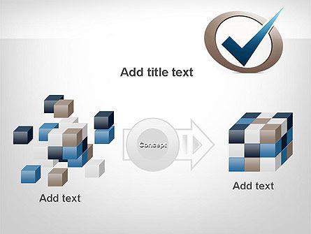Blue Tick PowerPoint Template Slide 17