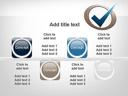 Blue Tick PowerPoint Template Slide 18