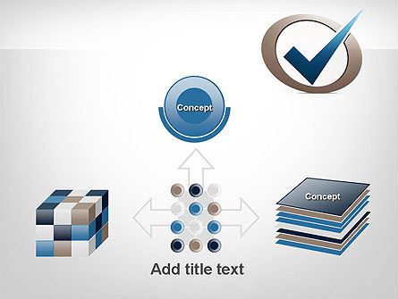 Blue Tick PowerPoint Template Slide 19