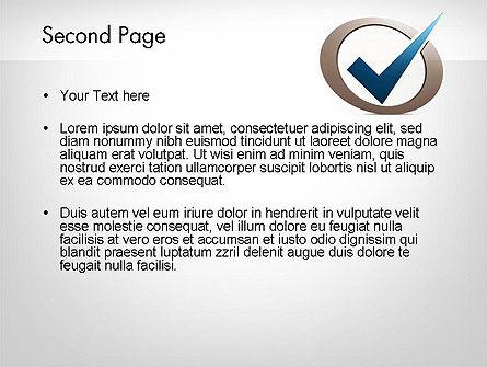 Blue Tick PowerPoint Template, Slide 2, 11913, Education & Training — PoweredTemplate.com