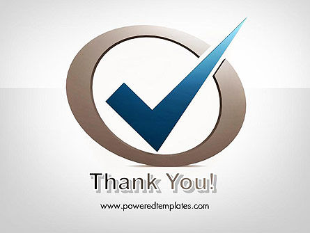 Blue Tick PowerPoint Template Slide 20