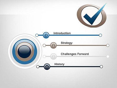 Blue Tick PowerPoint Template, Slide 3, 11913, Education & Training — PoweredTemplate.com