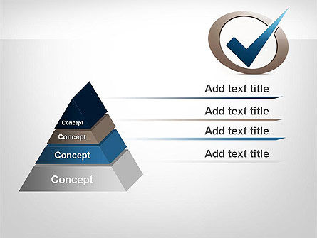 Blue Tick PowerPoint Template, Slide 4, 11913, Education & Training — PoweredTemplate.com