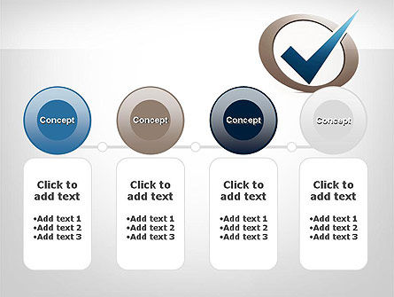 Blue Tick PowerPoint Template Slide 5