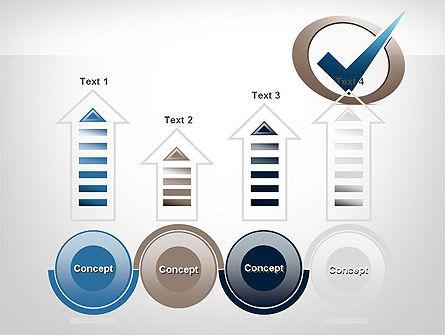 Blue Tick PowerPoint Template Slide 7