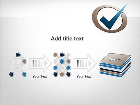 Blue Tick PowerPoint Template Slide 9