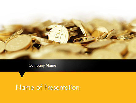 Bitcoins PowerPoint Template, 11914, Financial/Accounting — PoweredTemplate.com