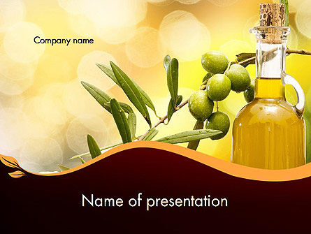 Food & Beverage: Olives and Oil PowerPoint Template #11916