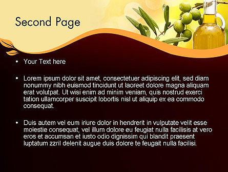 Olives and Oil PowerPoint Template Slide 2