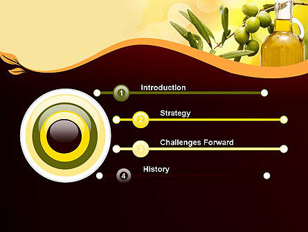 Olives and Oil PowerPoint Template, Slide 3, 11916, Food & Beverage — PoweredTemplate.com
