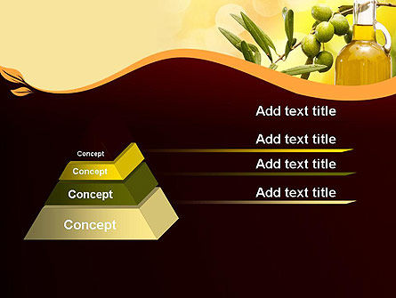 Olives and Oil PowerPoint Template, Slide 4, 11916, Food & Beverage — PoweredTemplate.com