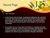 Olives and Oil PowerPoint Template#2
