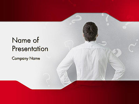 Consulting: Problems and Questions PowerPoint Template #11919