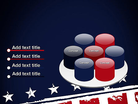 USA Flag Theme PowerPoint Template Slide 12