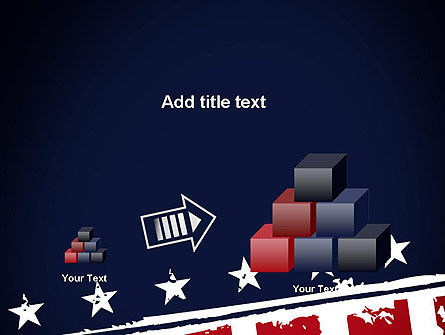 USA Flag Theme PowerPoint Template Slide 13