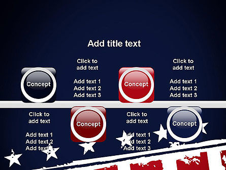 USA Flag Theme PowerPoint Template Slide 18
