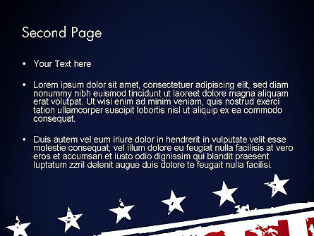 USA Flag Theme PowerPoint Template, Slide 2, 11920, America — PoweredTemplate.com